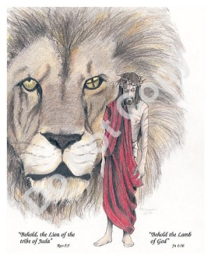 "Lion of Juda 8""x10"" Color Print"